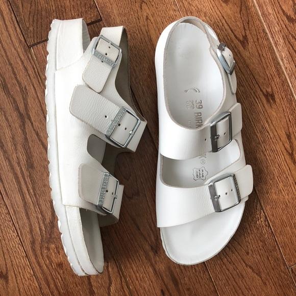 0780af72162 Birkenstock Shoes - Birkenstock exquisite white 8.5 39 N Milano NEW 🤩
